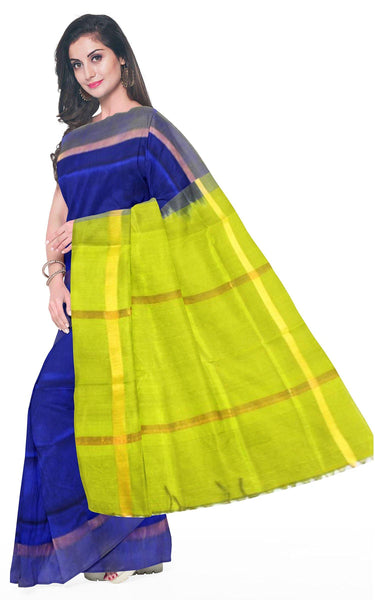 Kanchipuram Pure Silk cotton sarees with attractive pallu and Zari Border - (64058A) * Sale *, Sarees - Swadeshi Boutique