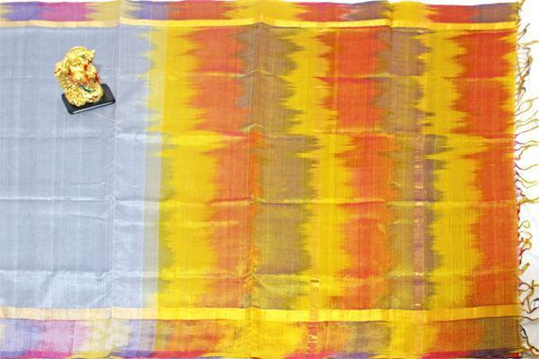 Kanchipuram Pure Silk cotton sarees with Pochampally Border - (64066A), Sarees - Swadeshi Boutique