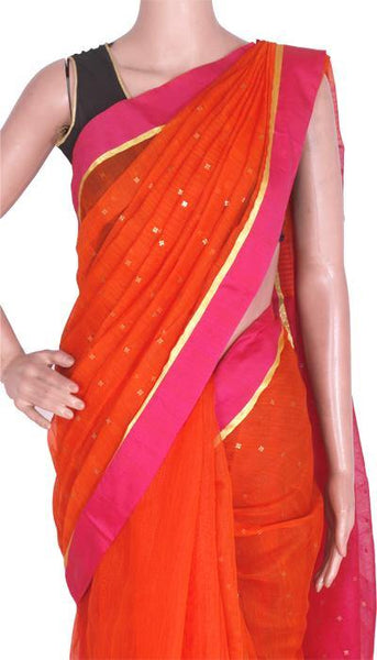 Silk Cotton saree with Sequence work - 68005A*New arrival! Rs.200 Off *, Sarees - Swadeshi Boutique