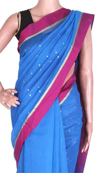 Silk Cotton saree with Sequence work - 68008A*New arrival! Rs.200 Off *, Sarees - Swadeshi Boutique