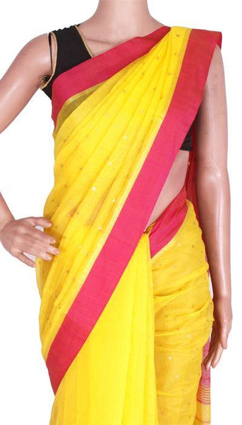 Silk Cotton saree with Sequence work - 68009A*New arrival! Rs.200 Off *, Sarees - Swadeshi Boutique