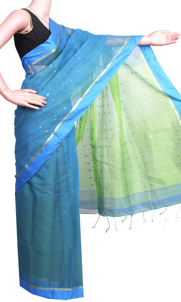 New arrival! Rs.200 Off * Silk Cotton saree with Sequence work - 68010A