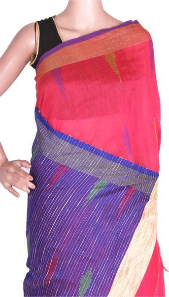 Silk Cotton saree with Contrast Pallu - 68013A*New arrival! Rs.200 Off *, Sarees - Swadeshi Boutique