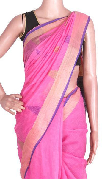 Silk Cotton saree with Contrast Pallu - 68014A*New arrival! Rs.200 Off *, Sarees - Swadeshi Boutique