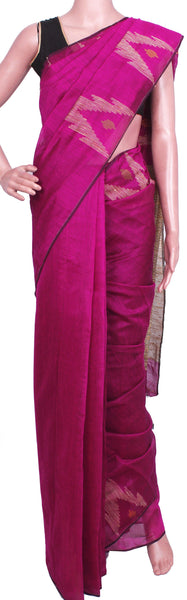 New arrival! Rs.200 Off * Silk Cotton saree with Geecha Pallu - 68018A