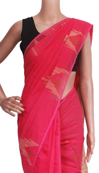Silk Cotton saree with Geecha Pallu - 68020A*New arrival! Rs.200 Off *, Sarees - Swadeshi Boutique