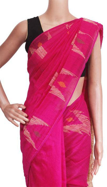 Silk Cotton saree with Geecha Pallu - 68022A*New arrival! Rs.200 Off *