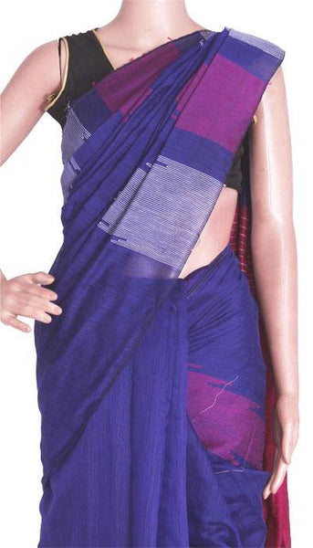 Silk Cotton saree with Temple Border - 68025A*New arrival! Rs.200 Off *, Sarees - Swadeshi Boutique