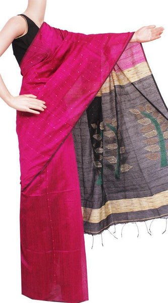 Silk Cotton saree with sequence work - 68028A, Sarees - Swadeshi Boutique