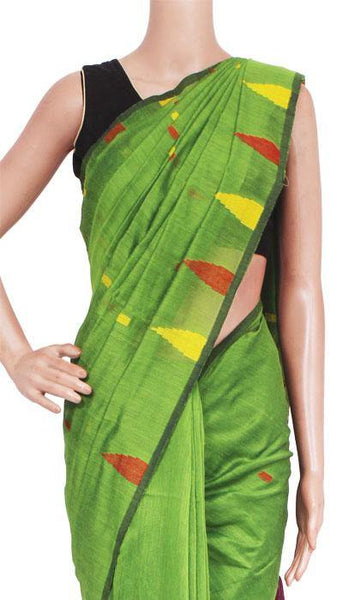 Silk Cotton saree with Contrast Pallu - 68031A, Sarees - Swadeshi Boutique