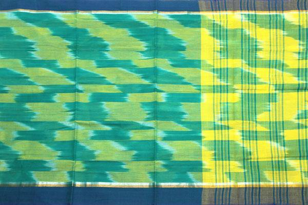Pochampally Cotton saree with beautiful ikat design - 69003A, Sarees - Swadeshi Boutique