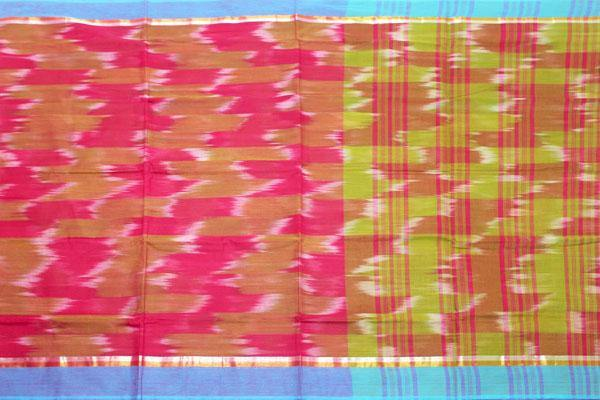 Pochampally Cotton saree with beautiful ikat design - 69004A, Sarees - Swadeshi Boutique
