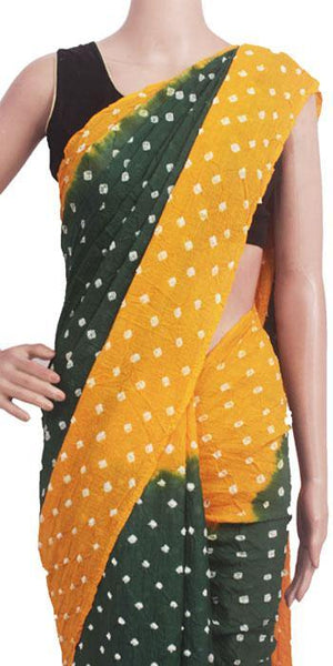 Sungudi cotton saree with contrast blouse  - (33107C)