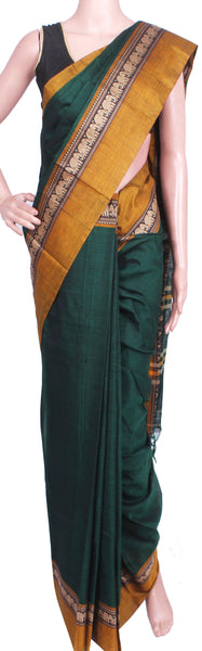 *Rs100 off* Narayanpet Handloom pure cotton saree with a beautiful attached blouse material (71007A)