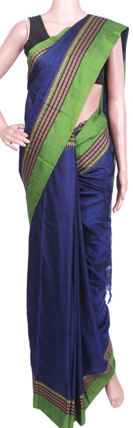 *Rs100 off* Narayanpet Handloom pure cotton saree with a beautiful attached blouse material (71008A)