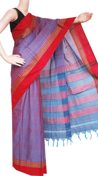 Narayanpet handloom cotton saree with an attached blouse material (71070A)