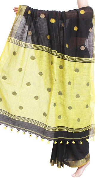 Khadi cotton saree with Ball putta design in all over body - 74002A, Sarees - Swadeshi Boutique