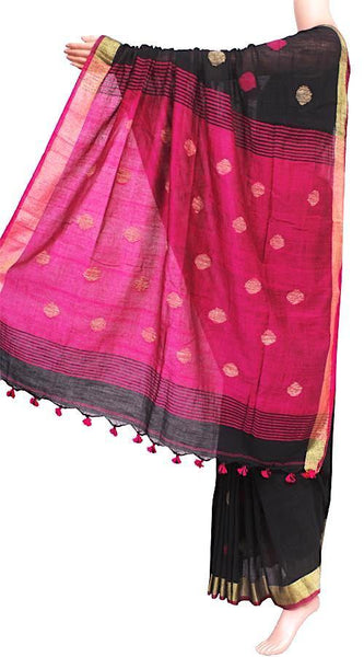Khadi cotton saree with Ball putta design in all over body - 74005A