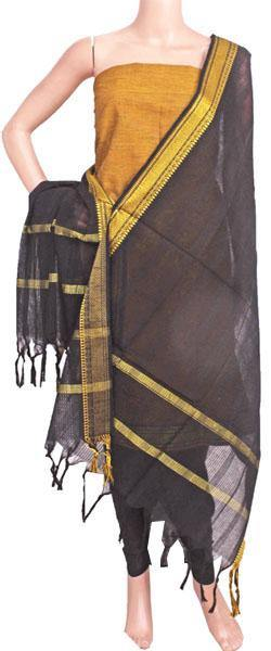 Mangalagiri Cotton Salwar set material - 84001A (3 pc - Tops, Bottom & Dhuppatta) * Intro Offer Rs.100 off *