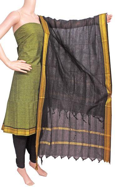 Mangalagiri Cotton Salwar set material - 84002A (3 pc - Tops, Bottom & Dhuppatta) * Intro Offer Rs.100 off *, Chudi - Swadeshi Boutique