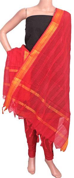 Mangalagiri Cotton Salwar set material - 84005A (3 pc - Tops, Bottom & Dhuppatta) * Intro Offer Rs.100 off *