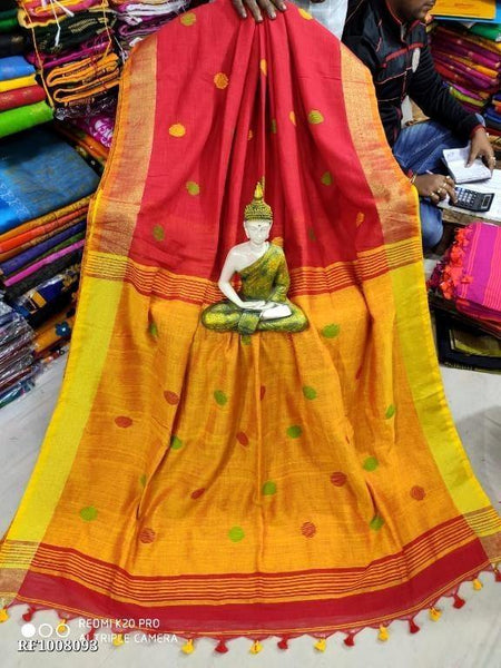 Khadi cotton saree with Ball putta design in all over body -74001A, Sarees - Swadeshi Boutique