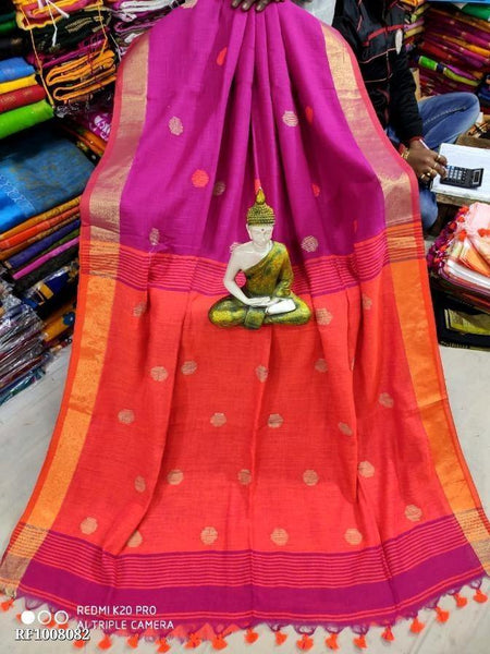 Khadi cotton saree with Ball putta design in all over body - 74009A