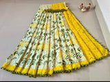 * New arrival * Batik Cotton  saree with pom pom lace attached[ - cotton (49061A)