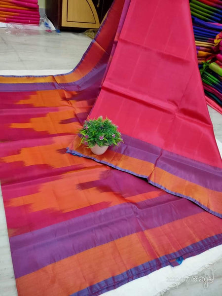 Uppada Silk saree with a beautiful katari Pochampally weaving and a contrasting blouse - 38031A