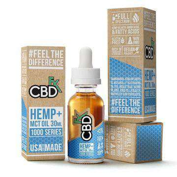 CBDfx 1000mg Full Spectrum CBD Hemp And MCT Oil Tincture 30ML - icbdoil.com