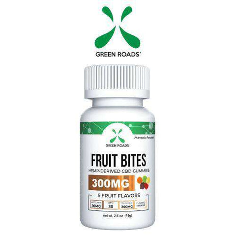 Green Roads 300mg CBD Fruit Bites Daily Dose Gummies - icbdoil.com