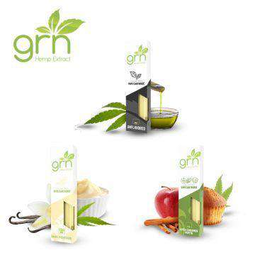 GRN CBD 200mg Full Spectrum CBD Vape Cartridge 0.5ML - icbdoil.com