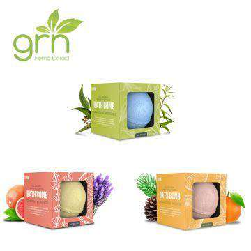 GRN CBD 35mg Full Spectrum CBD Infused Bath Bomb - icbdoil.com