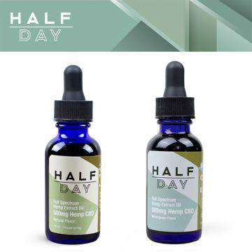 Half Day 500mg Full Spectrum CBD Hemp Extract Oil 30ML - icbdoil.com