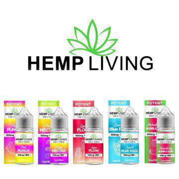 Hemp Living 100mg CBD E-Liquid 30ML - icbdoil.com