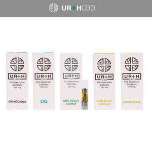 Urth CBD 300mg Full Spectrum Distillate CBD Single Cartridge - icbdoil.com