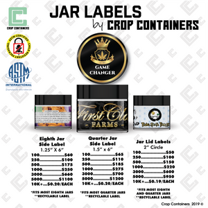 Jar Labels - by Crop Containers