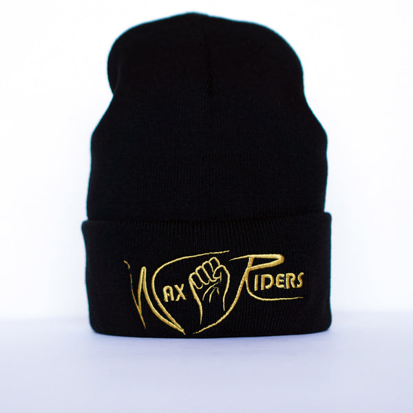 Wax Riders Knit Cuff Beanie Black