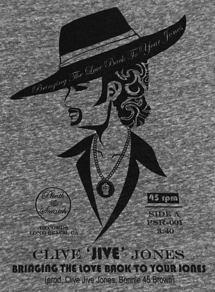"CLIVE JIVE JONES HEATHER GREY & BLACK 3/4"" SLEEVE MEN'S RAGLAN"
