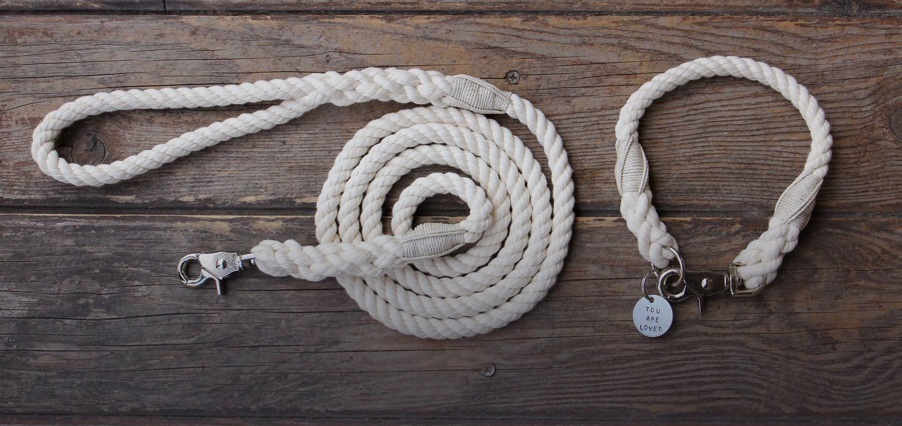 Organic Cotton Rope Leashes and Collars