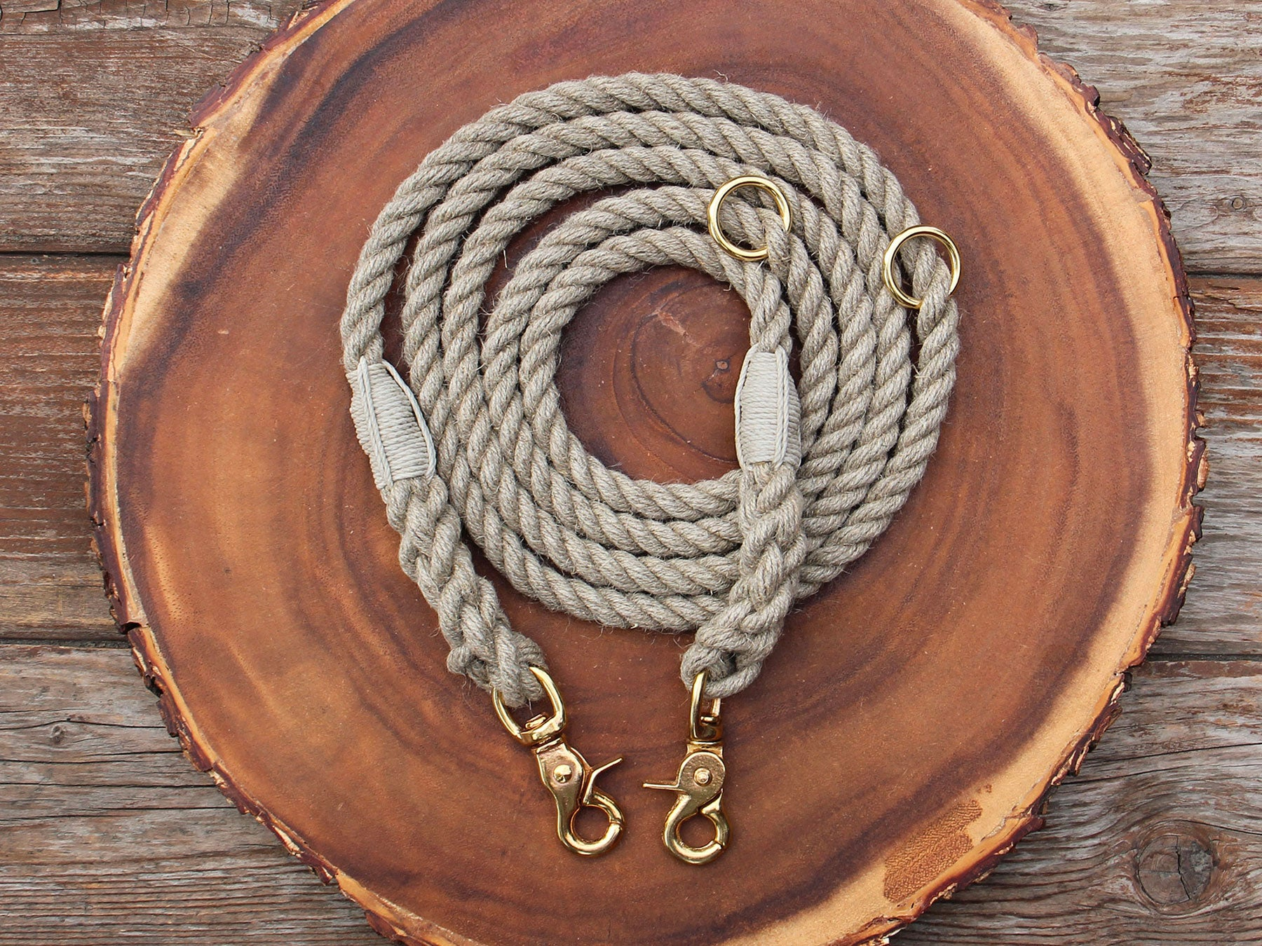 Adjustable Just Hemp Rope Dog Leash