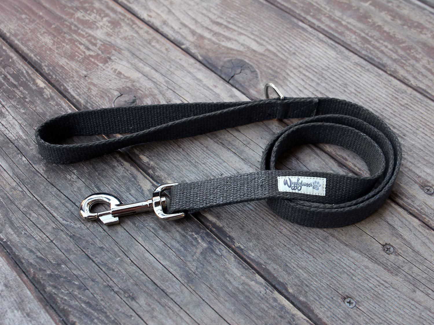 Black Just Hemp Flat Dog Leash