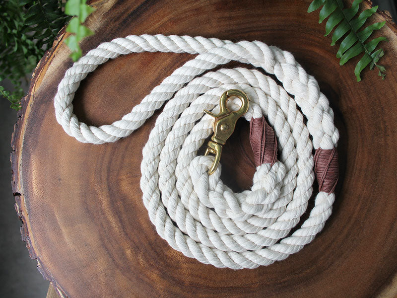 Organic Cotton Rope Dog Leash with Trigger Snap