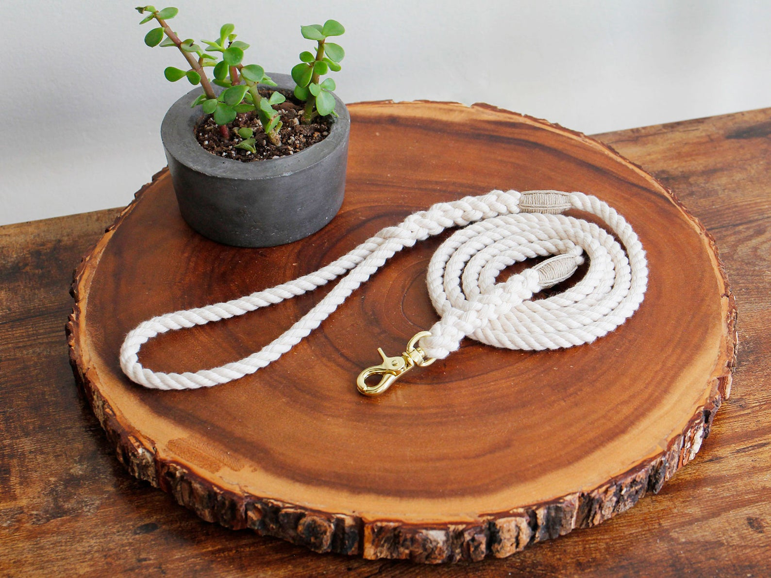 Cat Leash Natural Cotton Rope