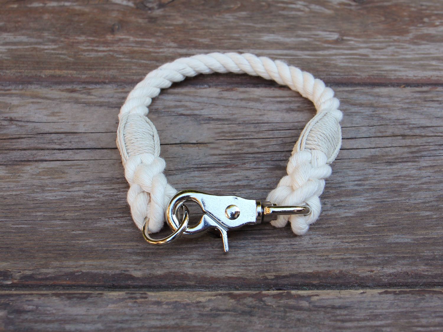 Natural Cotton Rope Dog Collar - For Extra Small and Toy Dogs