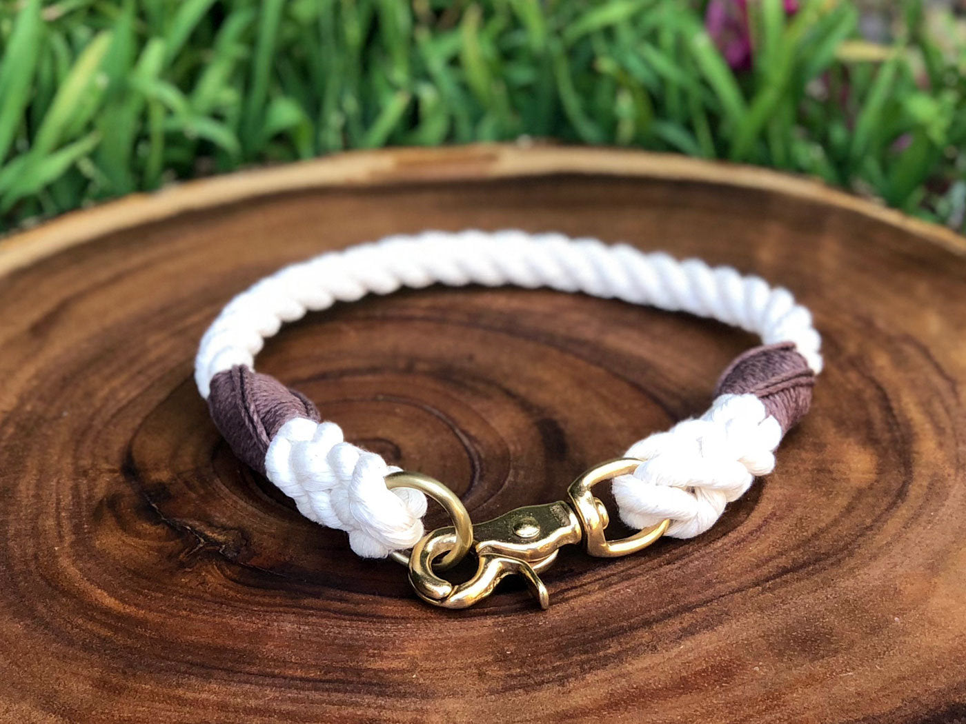 Organic Cotton Rope Dog Collar - For Large and Extra Large Dogs