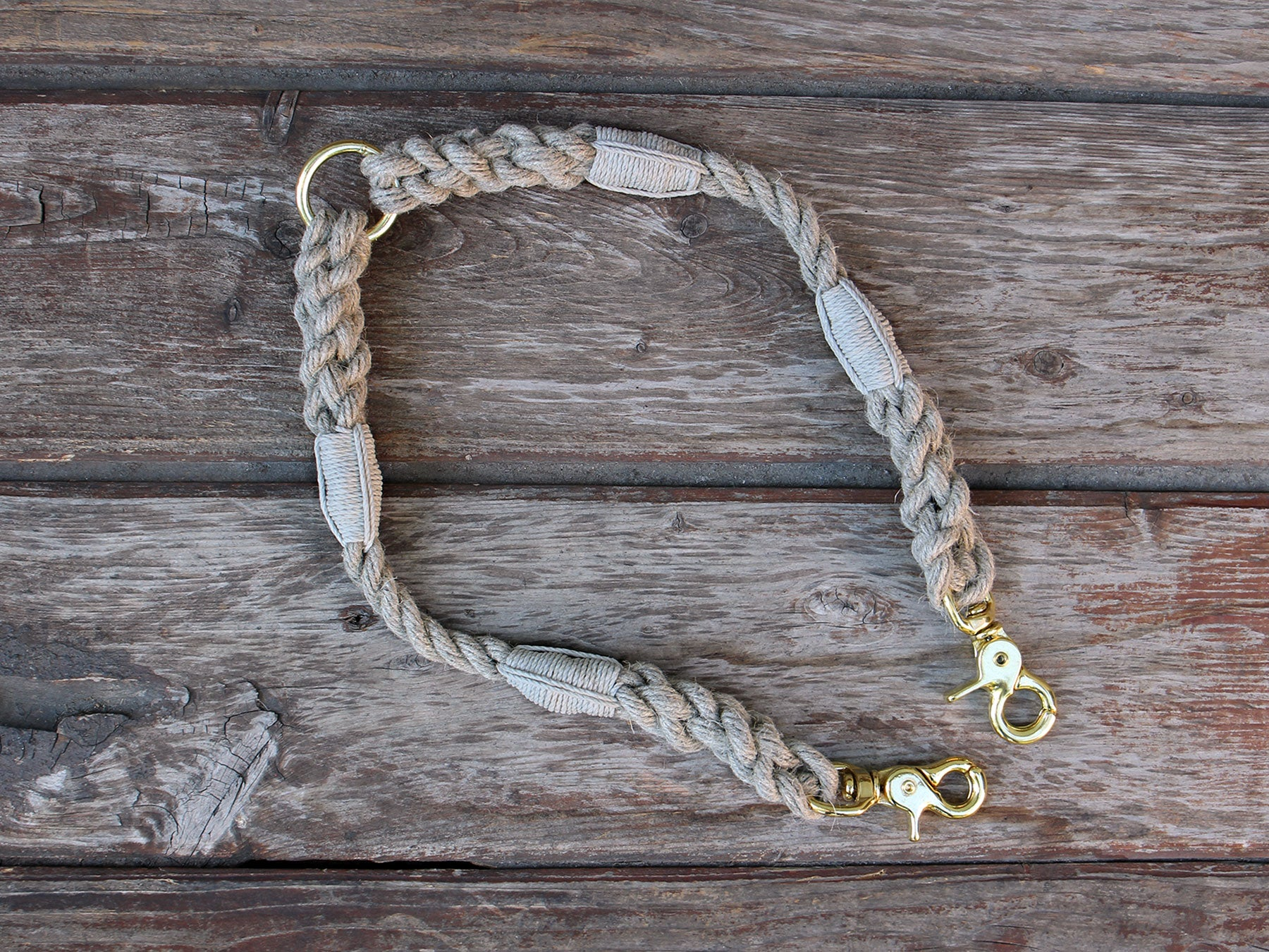 Just Hemp Rope Dog Leash Coupler