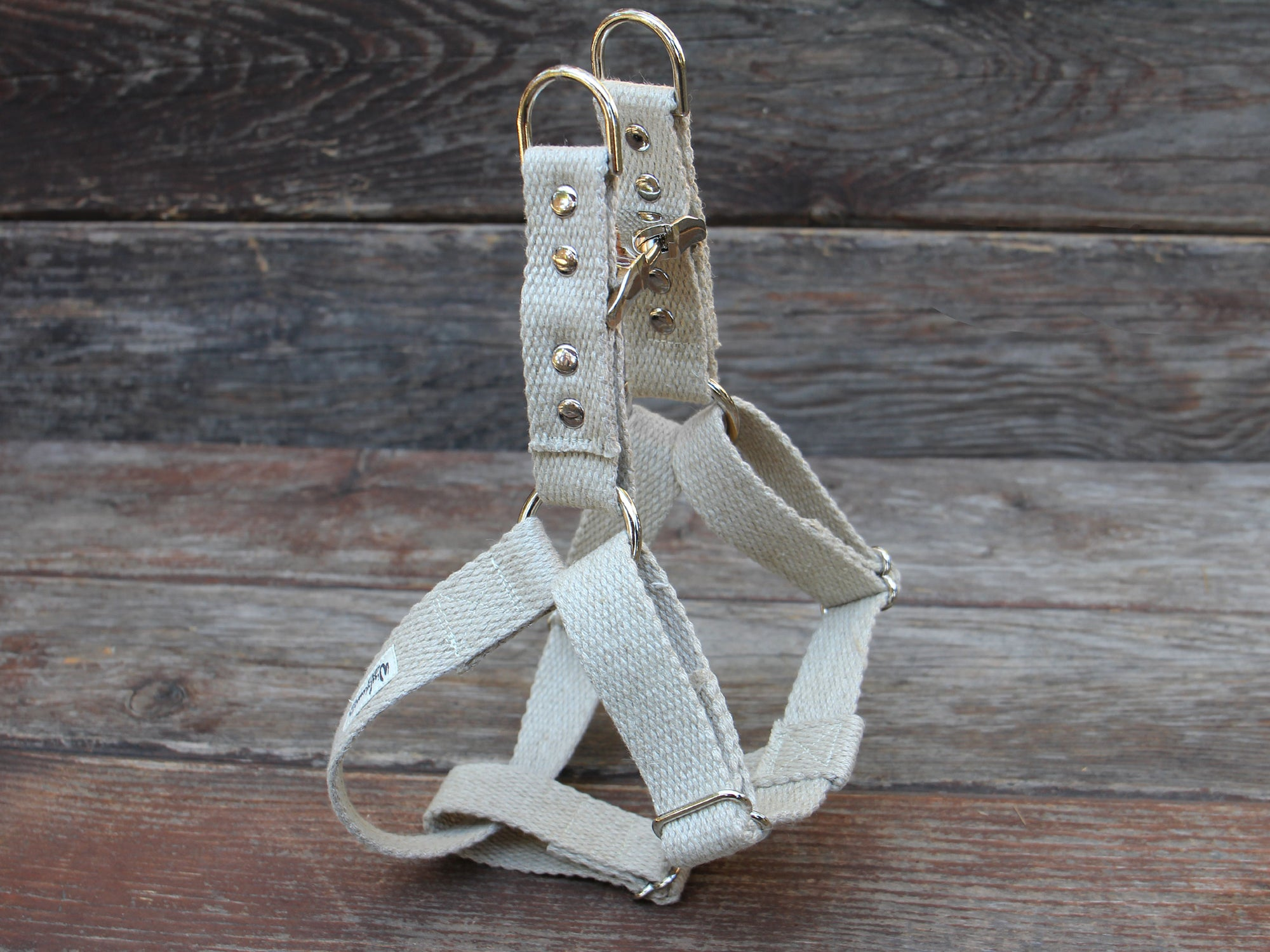 Studded Just Hemp Adjustable Step-In Dog Harness