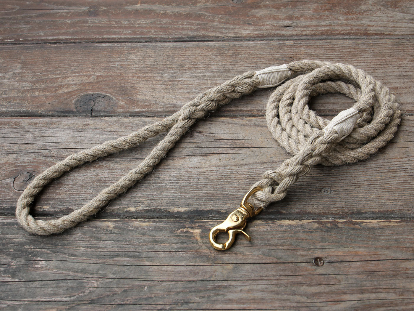 Just Hemp Rope Dog Leash with Trigger Snap