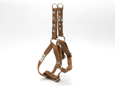 Tea-Stained Just Hemp Adjustable Step-In Dog Harness